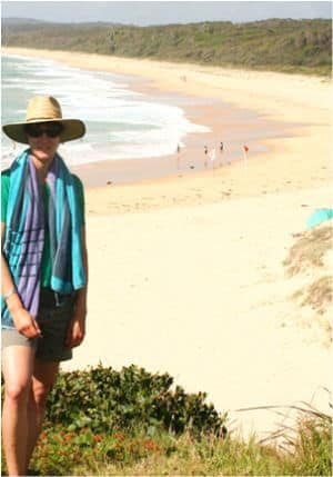 Overlooking another beach in Bermagui, New South Wales – about five hours south of Sydney