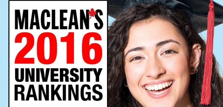 Maclean's 2016 University Rankings