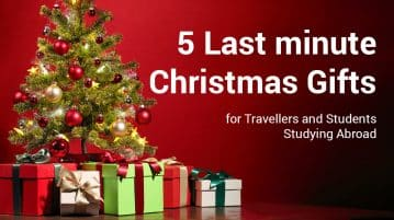 5 Last minute Christmas Gifts for Travellers and Students Studying Abroad
