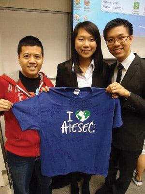 Kevin Lee with Hong Kong Baptist University students