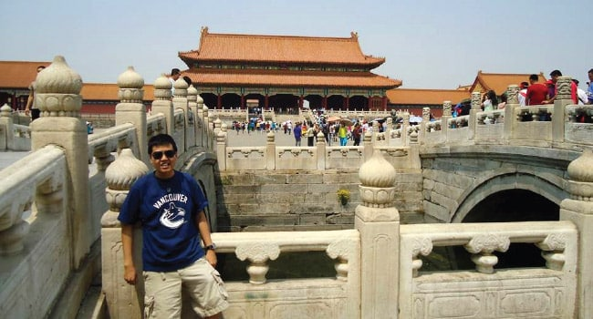 Kevin Lee in the Forbidden City Beijing, China