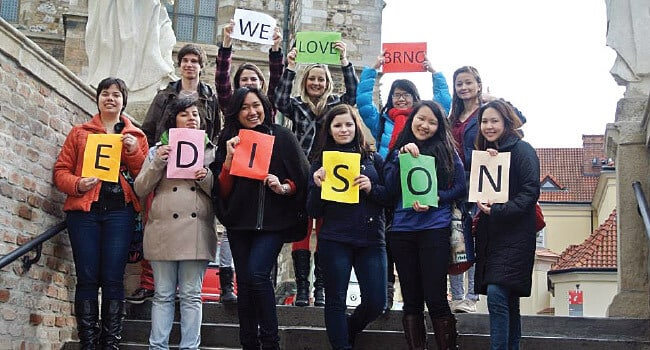 Interns of the EDISON Project, aimed to educate high school students on multiculturism