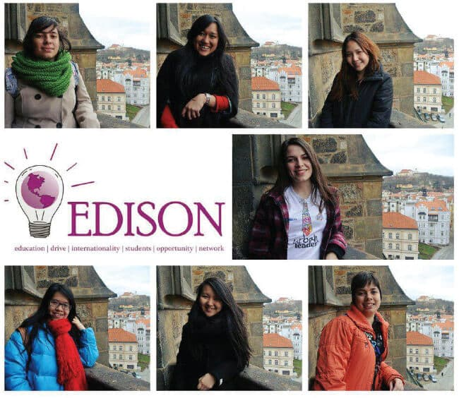 Some of the interns of the EDISON project in Brno, Czech Republic