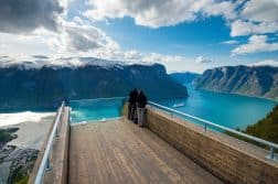 Stegasteinen viewpoint in Aurland